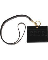 Gcds Logo Detail Lanyard Cardholder - Black