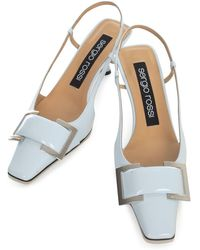 Sergio Rossi Sr Twenty Slingback Court Shoes - Blue