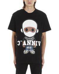 ih nom uh nit Big 3-future Print Cotton Jersey T-shirt - Black