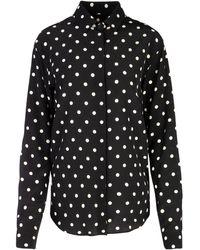 Saint Laurent Polka Dot Patterned Shirt - Black