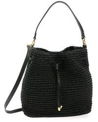 Polo Ralph Lauren Weave Bucket Bag - Black