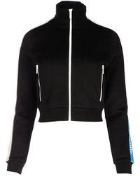 Miu Miu Logo Trim Track Jacket - Black