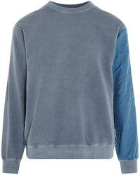 Ambush Contrast Panel Sweatshirt - Blue