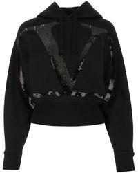 Valentino Black Cotton Blend Sweatshirt Nd