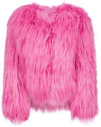 Prada Kidassia Short Faux Fur - Pink