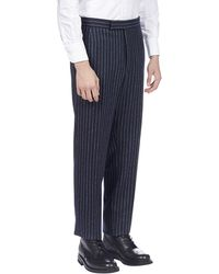 Thom Browne Pinstriped Trousers - Blue