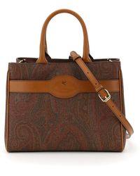 Etro Paisley Tote Bag - Brown