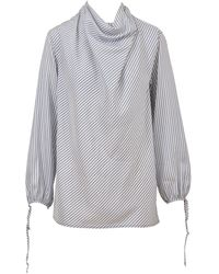 Loewe Draped Stripe Shirt - Blue