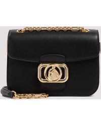 Lanvin Swan Box Small Chain Bag - Black