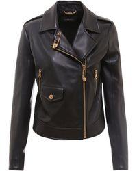 Versace Leather Jacket - Black