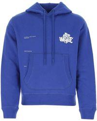 Off-White c/o Virgil Abloh Electric Blue Cotton Sweatshirt
