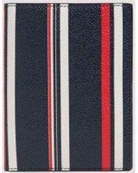 Thom Browne Rwb Stripe Passport Holder - Blue