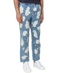BBCICECREAM Bleach Effect Straight-leg Jeans - Blue