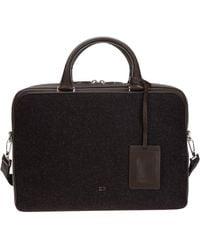 Dior Logo Two-tone Briefcase - Brown