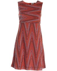 M Missoni Lamé Knitted Dress - Brown