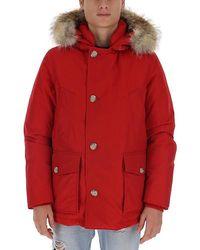 Woolrich - Hooded Coat - Lyst