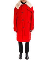 Alexander McQueen - Wool Collar Coat - Lyst