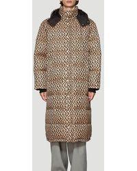 Gucci G Rhombus Padded Coat - Brown