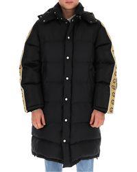 Gucci GG Webbed Motif Down Coat - Black