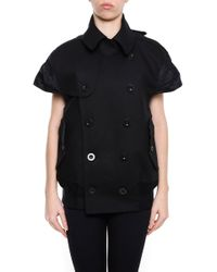 Sacai - Double Breasted Short Sleeve Jacket - Lyst