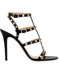 8bee5fae00b Valentino -   ockstud Patent Leather Gladiator Sandals - Lyst