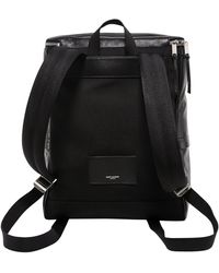 Saint Laurent Sid Zipped Backpack - Black