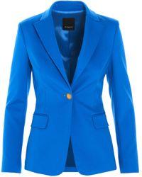 Pinko Scuba Effect Single Breasted Blazer - Blue