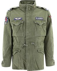 Polo Ralph Lauren Denim Jacket With Patch - Green