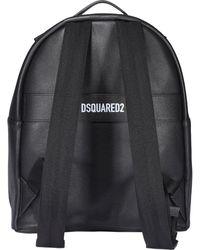 DSquared² X Ibrahimović Icon Logo Print Backpack - Black
