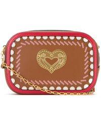 Bally Swirl Heart Detail Crossbody Bag - Brown