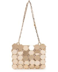 Paco Rabanne Sequin Chain Strap Shoulder Bag - Metallic
