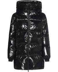 Herno Drawstring Hooded Puffer Jacket - Black