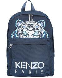 KENZO Large Backpack With Logo - Blue