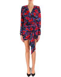 Saint Laurent - V-neck Wrap Dress - Lyst