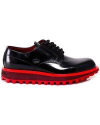 Dolce & Gabbana Logo Platform Lace-up Shoes - Black