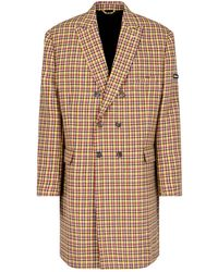Balenciaga Double-breasted Checked Coat - Multicolour