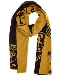 Moschino Double Question Mark Scarf - Yellow