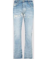 Fear Of God Faded Distressed Jeans - Blue