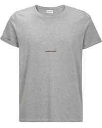 Saint Laurent Logo T-shirt - Grey