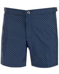 Alexander McQueen Allover Skull Swim Shorts - Blue