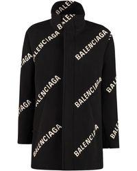 Balenciaga Wool And Cashmere Coat - Black