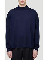 Jil Sander Mock Neck Sweater - Blue