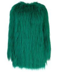 Prada Fur Open Coat - Green