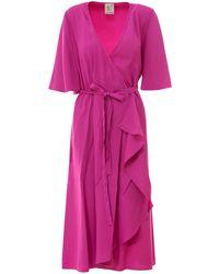 L'Autre Chose Dress With Bow Detail - Pink