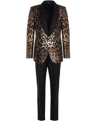 Dolce & Gabbana Leopard Printed Two-piece Suit - Multicolour