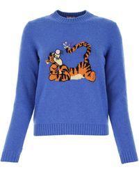 Miu Miu X Disney Tigger Knitted Jumper - Blue