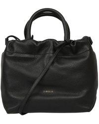 Furla Drawstring-detailed Tote Bag - Black