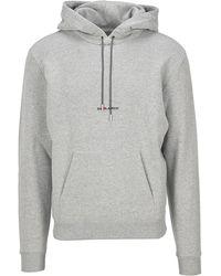 Saint Laurent Logo Hoodie - Grey