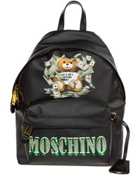 Moschino Teddy Logo Backpack - Black