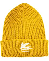 Etro Wool Hat - Yellow